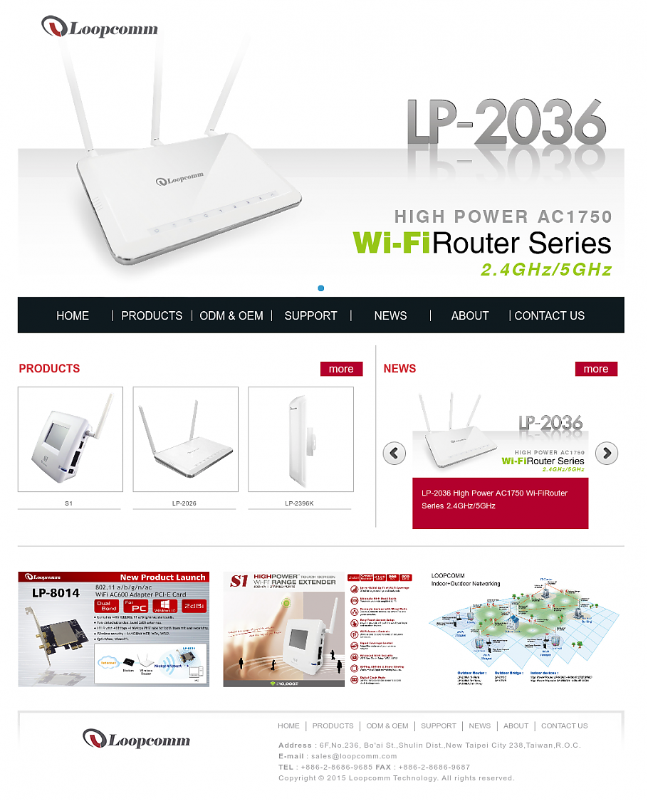 Loopcomm WLAN AP Webserver 无需授权直接操作